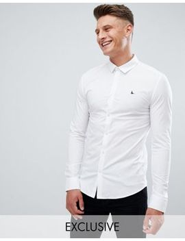 jack-wills-skinny-fit-poplin-stretch-shirt-in-white by -jack-wills