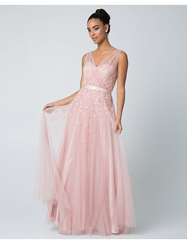 beaded-tulle-v-neck-gown by le-chateau