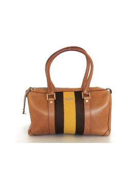 Authentic Gucci Brown Leather Handbag Bag Purse by Gucci