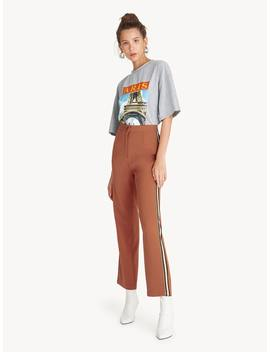 side-striped-tape-pants---brown by pomelo
