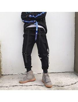 strap-detail-cotton-pants by ancho