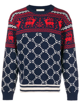 gg-and-reindeer-jacquard-sweater by gucci