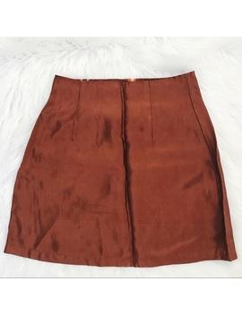 vintage-burnt-orange-skirt by poshmark