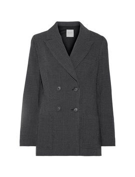 sea-prince-of-wales-checked-wool-crepe-blazer-xs   nwt by sea-new-york