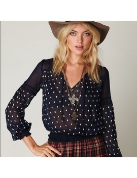 free-people-polka-dotted-boho-top-sheer-medium by free-people
