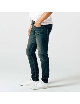 Mens Skinny Slim Jeans In Dark Worn Wash by Dstld