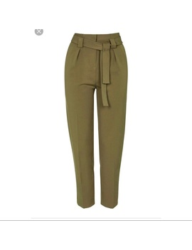 topshop-trapeze-pants-in-olive by topshop