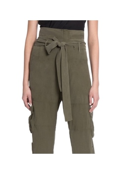 chelsea-and-walker-turlington-silk-cargo-pant   nwt by chelsea-and-walker