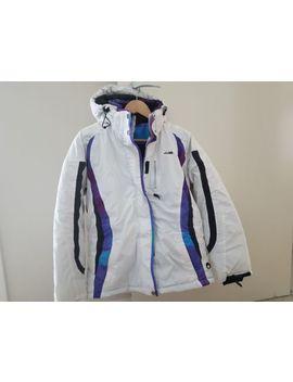 k-swiss-ladies-wind-breaker-_-ski-jacket---blue---size-s-(10-_-12)---gc by k-swiss