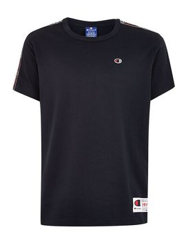 champion-silver-taping-t-shirt by topman
