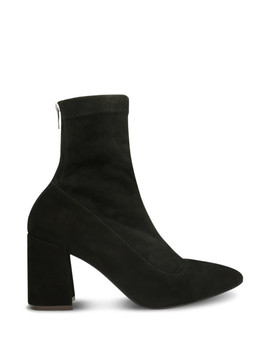 black-suede-heeled-sock-boots by gino-rossi