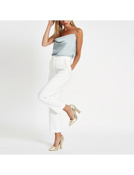 light-blue-cowl-neck-cami-top by river-island