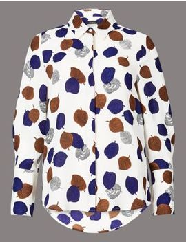 Printed Long Sleeve Shirt by Marks & Spencer