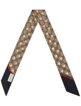 gg-bees-silk-neck-bow by gucci