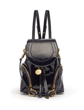 olga-patent-leather-mini-backpack by see-by-chloé