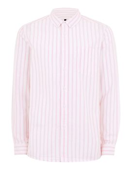 pink-and-white-stripe-long-sleeve-shirt by topman