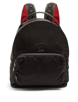 backloubi-small-spike-embellished-backpack by christian-louboutin
