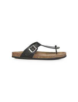 sandálias-palmilha-tira-em-t-preto by primark