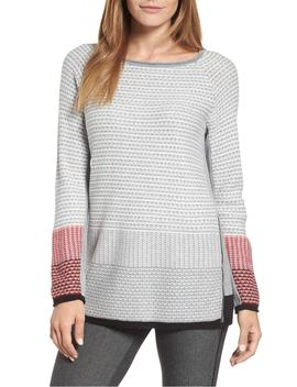 balance-side-zip-cotton-blend-sweater by nic+zoe
