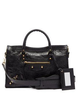 classic-city-leather-shoulder-bag by balenciaga