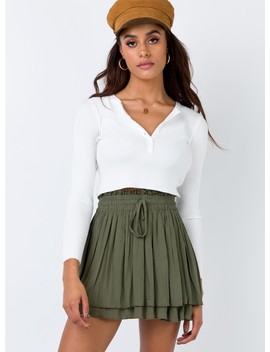 summer-lovin-mini-skirt-olive by princess-polly