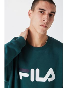Fila Crew Sweater Large Logo by Cotton On