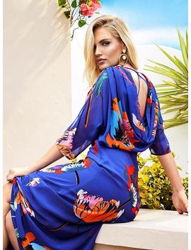 ruched-floral-printed-dress by guess