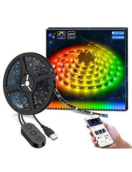 dreamcolor-led-strip-lights-with-app,-minger-66ft_2m-5v-usb-light-strip-built-in-digital-ic,-5050-rgb-light-color-changing-with-music-ip65-waterproof-led-string-lights-kit,-led-tv-backlight-strip by minger