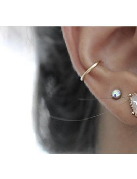single-hoop-ear-cuff,-conch-fake-piercing-hoop-earring,-sterling-silver,-14k-gold-filled,-copper,-pink-gold-filled,-1-cuff by etsy