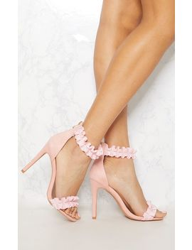 blush-ruffle-strappy-heeled-sandal by prettylittlething