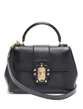 lucia-lizard-effect-leather-bag by dolce-&-gabbana