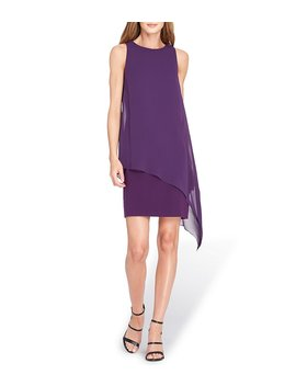 Asymmetric Chiffon Pop Over Dress by Generic