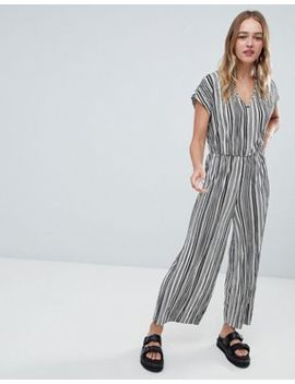 monki-stripe-plisse-jumpsuit-in-black-and-white by monki