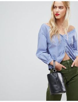 whistles-pinstripe-off-shoulder-shirt by whistles