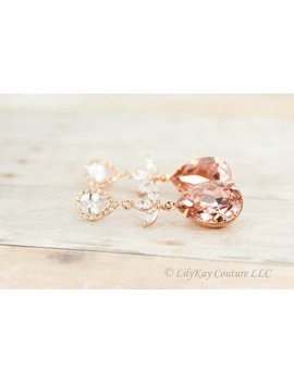 blush-bridesmaid-earrings-rose-gold-earring-rose-gold-blush-pink-bridal-jewelry-rose-gold-bridesmaid-jewelry-earring-blush-bridal-jewelry by etsy
