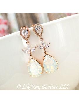 opal-earrings-rose-opal-blush-bridesmaid-earrings-rose-gold-earring-rose-gold-blush-pink-bridal-jewelry-rose-gold-bridesmaid-jewelry-earring by etsy