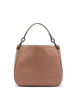 loop-small-intrecciato-leather-shoulder-bag by bottega-veneta