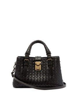 roma-mini-intrecciato-leather-tote by bottega-veneta