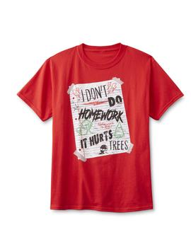 screen-tee-market-brands-boys-graphic-t-shirt---homework-hurts-trees by sears