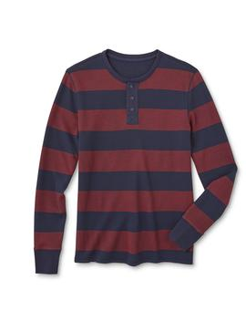 roebuck-&-co-young-mens-graphic-henley-shirt---rugby-striped by sears