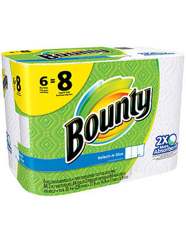 bounty-select-a-size-paper-towels,-white,-6-big-rolls-=-8-regular-rollsbounty-select-a-size-paper-towels,-white,-6-big-rolls-=-8-regular-rolls by sears