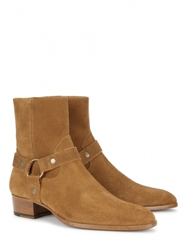 Wyatt Brown Suede Boots by Saint Laurent