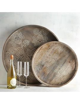 hand-carved-gabrielle-trays by dileep-for-pier-1-collection