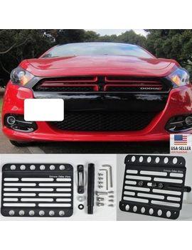 for-13-15-dodge-dart-front-bumper-tow-hook-bracket-license-plate-relocator-mount by ebay-seller