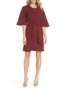tie-front-crepe-dress by tahari