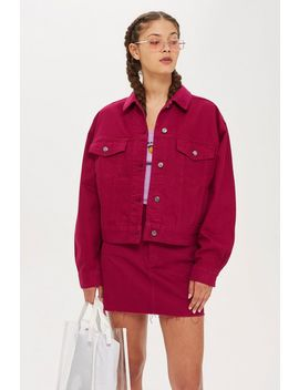 raspberry-denim-jacket by topshop