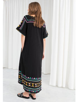 embroidered-belted-kaftan-dress by &-other-stories