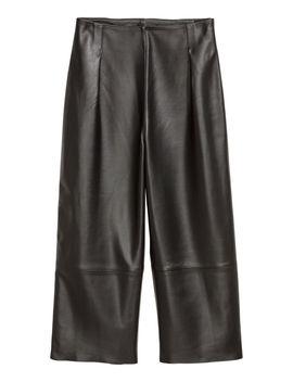 pantalón-holgado-de-piel by h&m