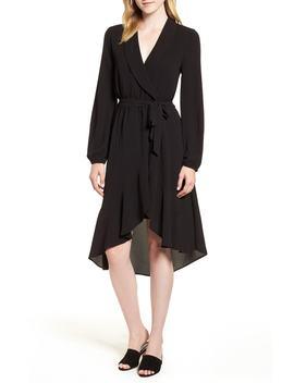 faux-wrap-dress by bobeau