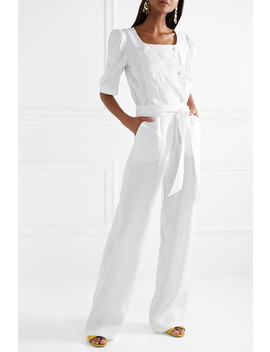 diana-double-breasted-linen-jumpsuit by lisa-marie-fernandez